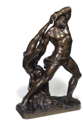 A FRENCH BRONZE FIGURE GROUP O