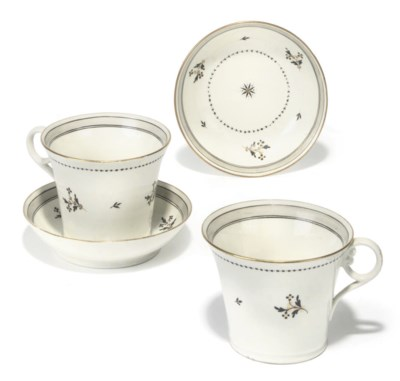 A PAIR OF ENGLISH PORCELAIN BR