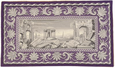 A PICTORIAL NEEDLEPOINT RUG