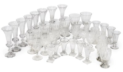 A COLLECTION OF GLASS PART TAB