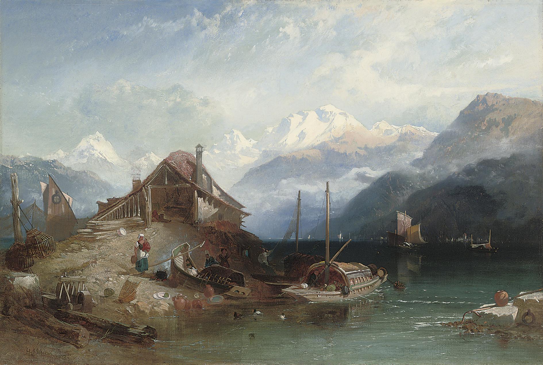 Lake Thun, Bernese Alps beyond