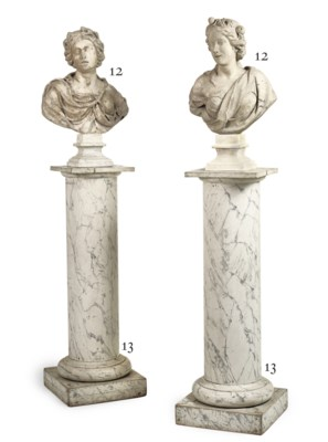 A PAIR OF ITALIAN MARBLE BUSTS