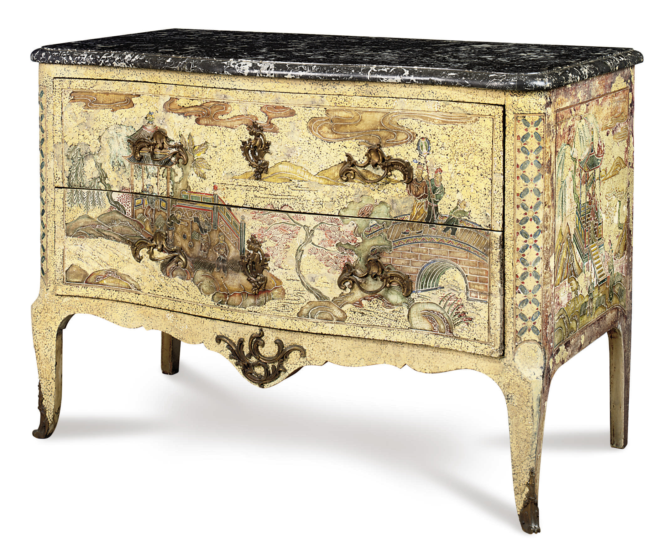 A FRENCH ORMOLU-MOUNTED AND CH