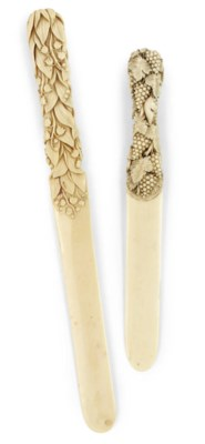 TWO VICTORIAN IVORY PAPER KNIV