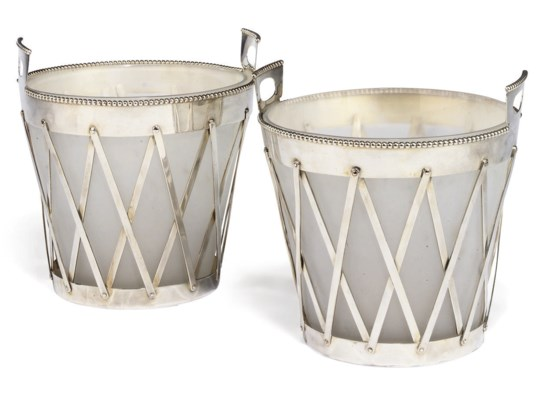 A PAIR OF ITALIAN ELECTROPLATE