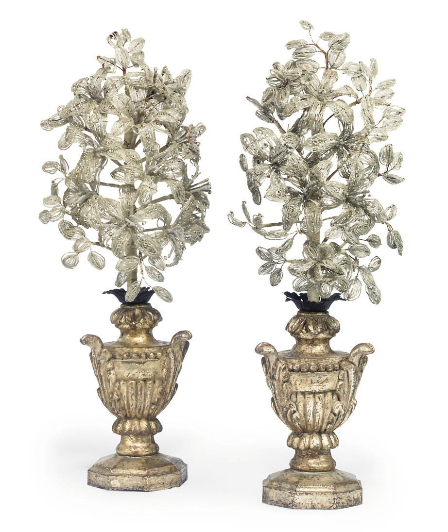 A PAIR OF ITALIAN SILVERED WOO