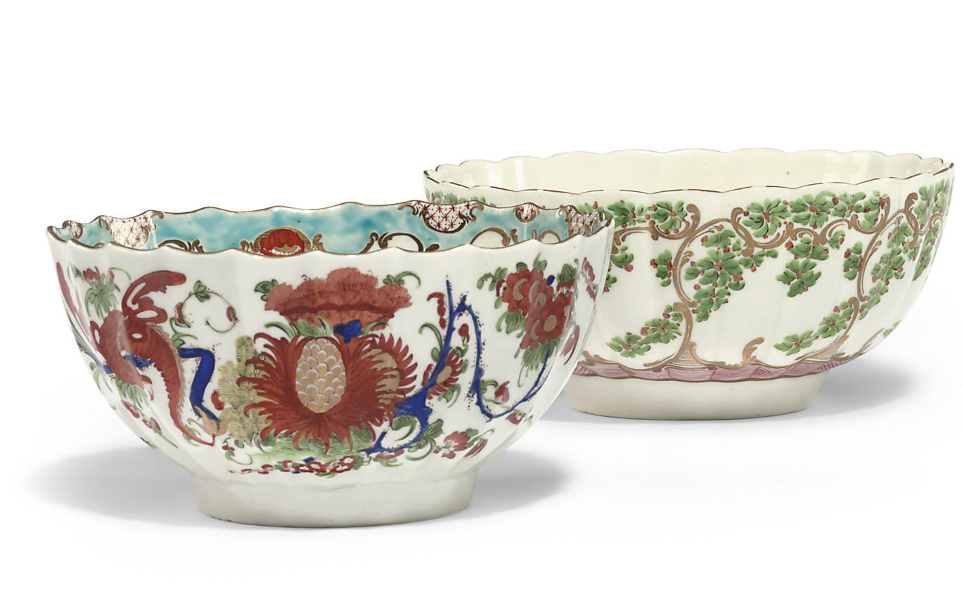 TWO WORCESTER BOWLS