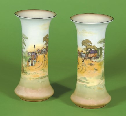 A pair of Burleigh ware vases