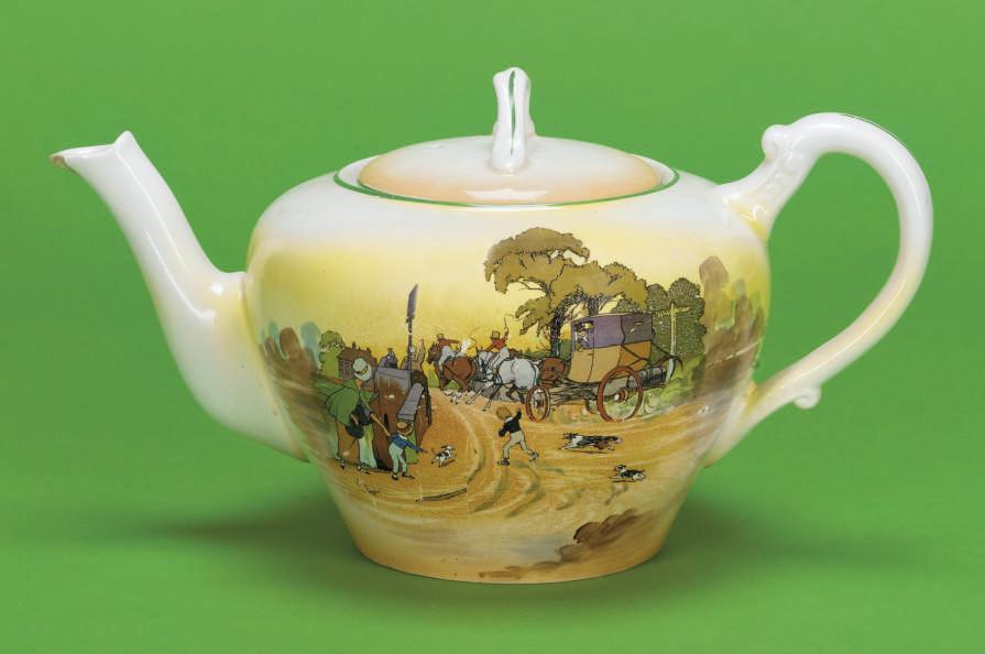 An English porcelain oviform t