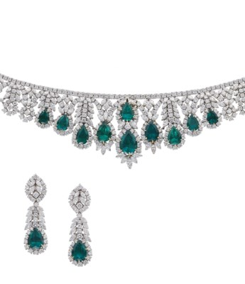 A SUPERB EMERALD AND DIAMOND N