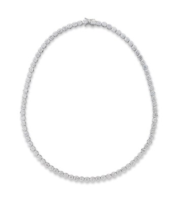 A DIAMOND LINE NECKLACE, BY WE