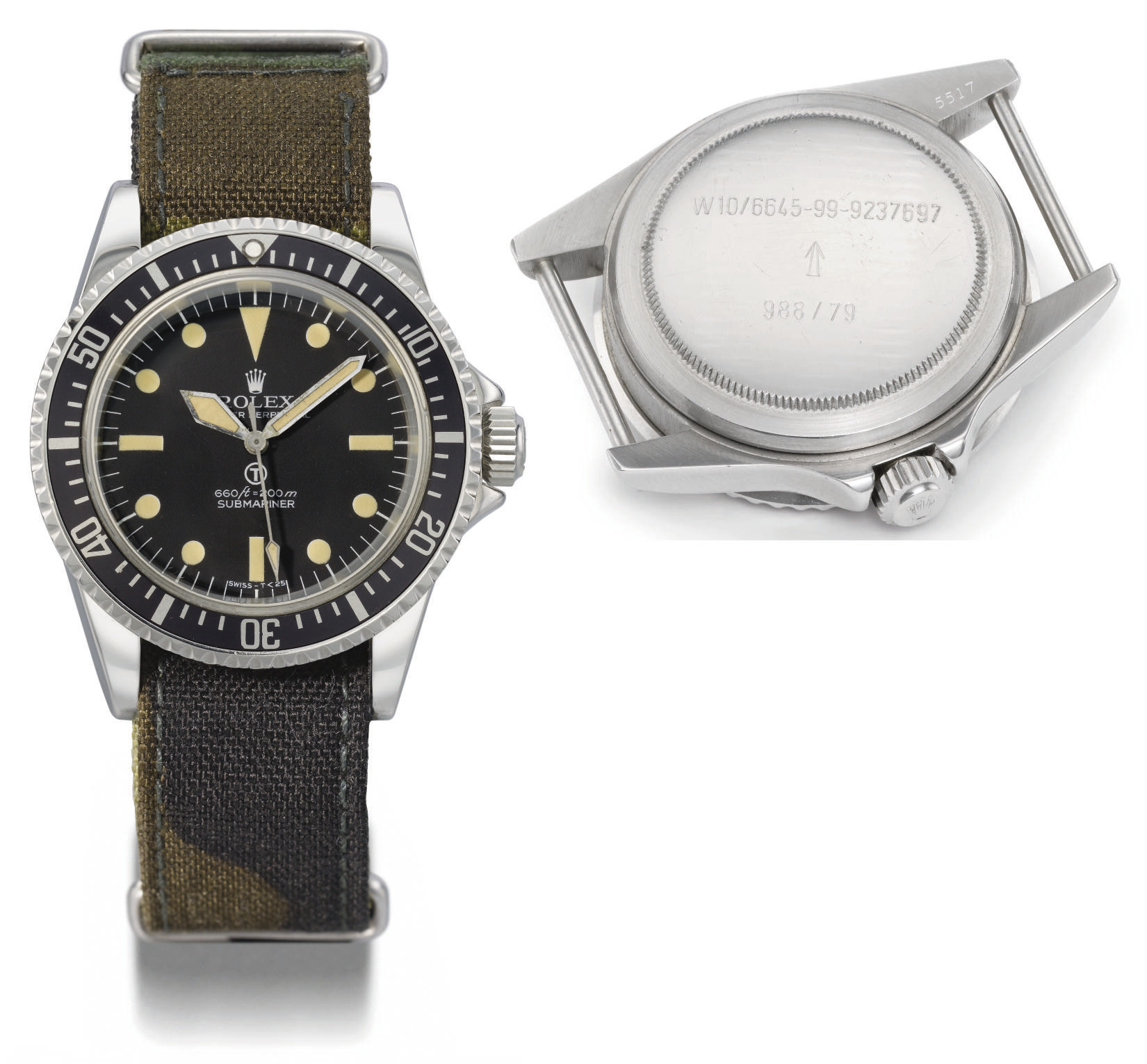 Rolex. A rare stainless steel self-winding water-resistant wristwatch with sweep centre seconds, made for the British Royal Navy