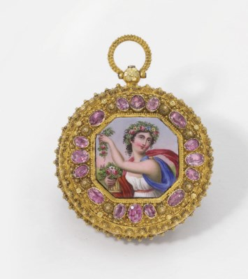 Anon. An unusual 18K gold, ena