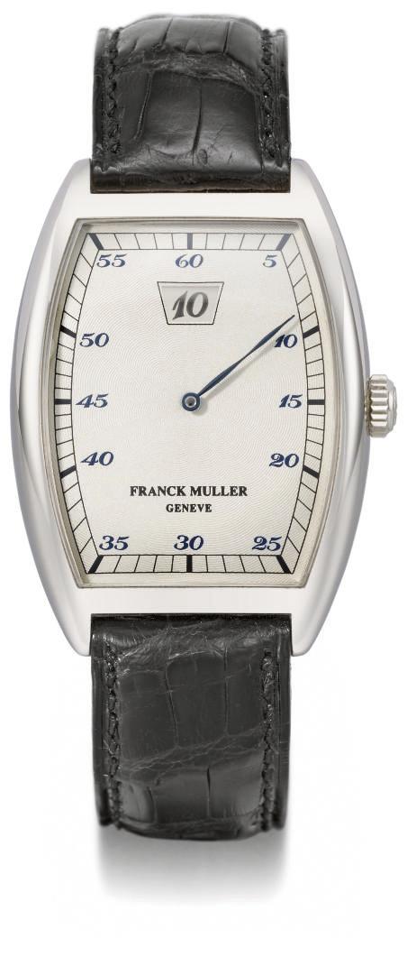 Franck Muller. A large 18K whi