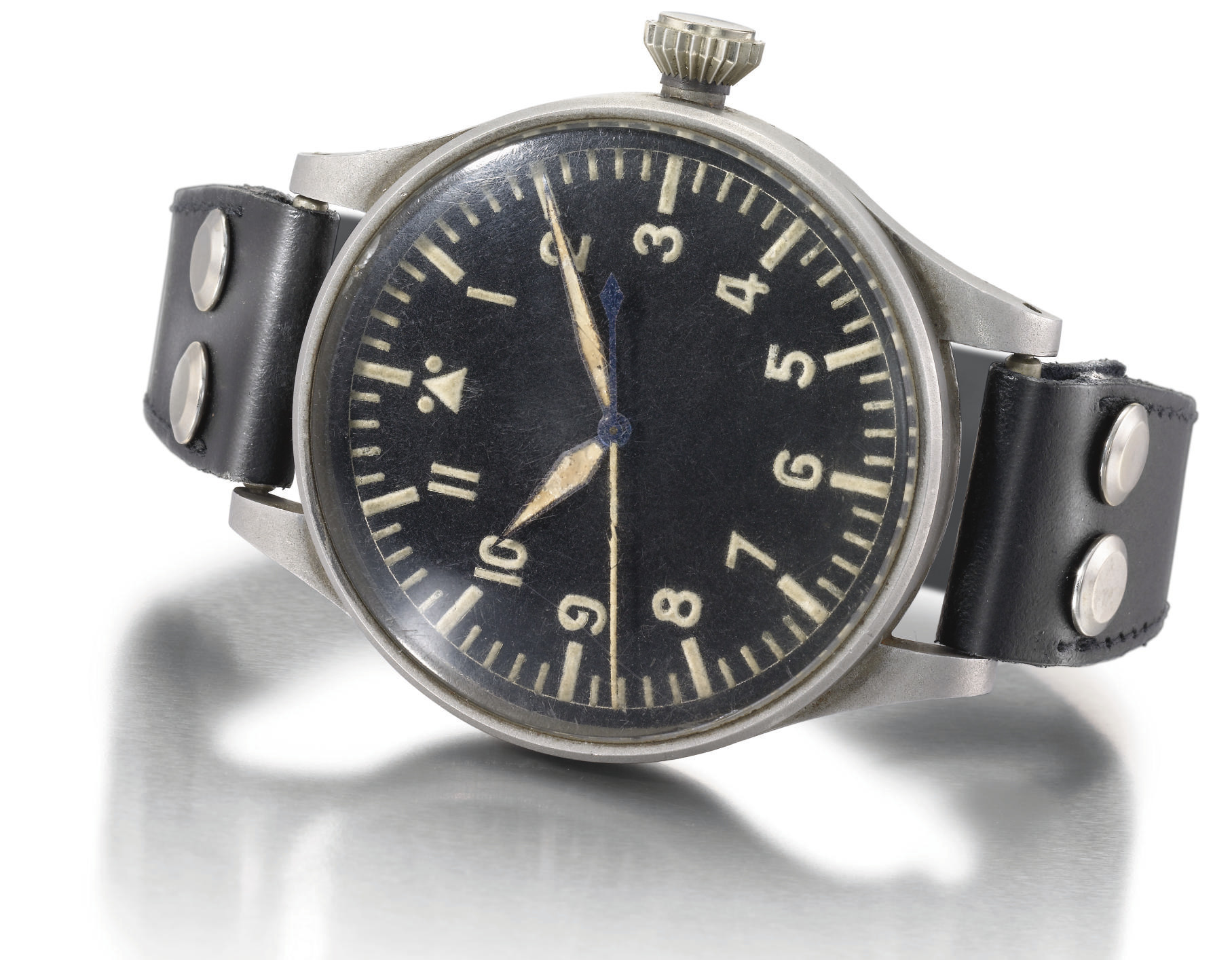 IWC. An extremely rare stainle