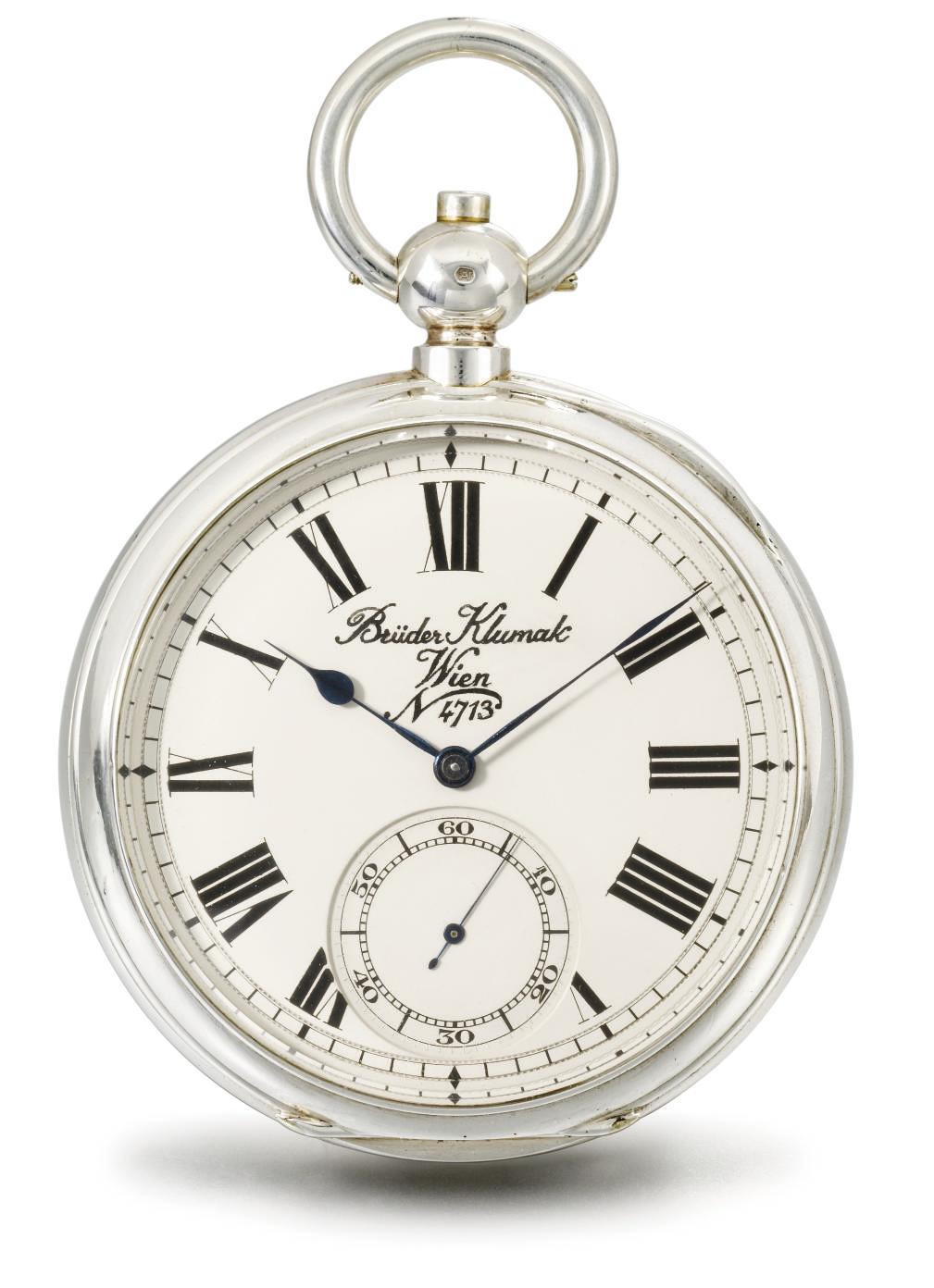 Gebrüder Klumak. A fine silver openface deck chronometer