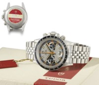Tudor. A fine and attractive stainless steel chronograph wristwatch with date, bracelet, tag and box