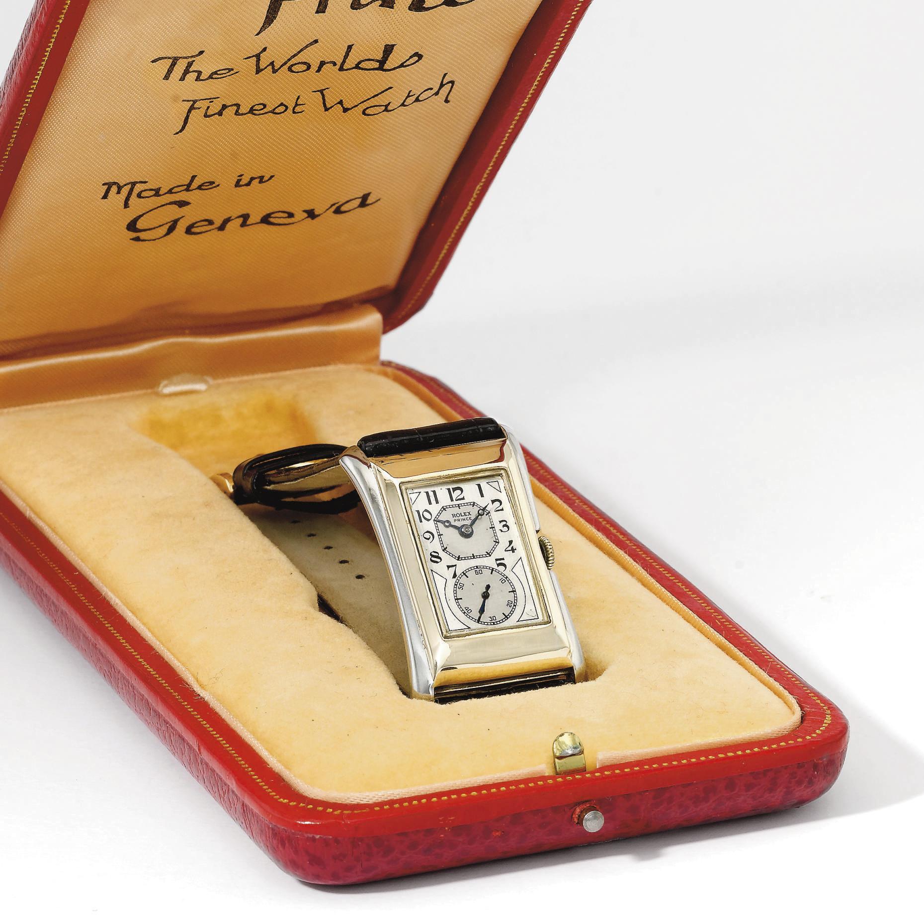 Rolex. A fine and rare 9K two