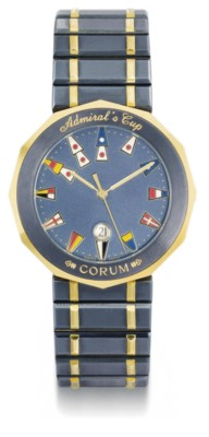 Corum. A stainless steel and g