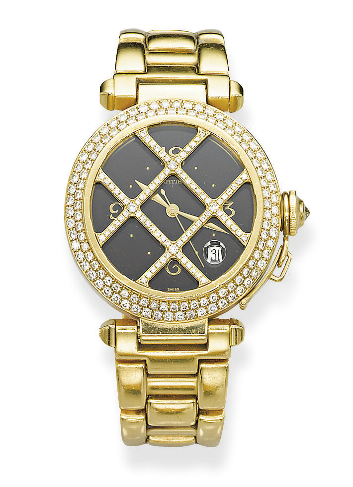 A GOLD AND DIAMOND 'PASHA' WRI