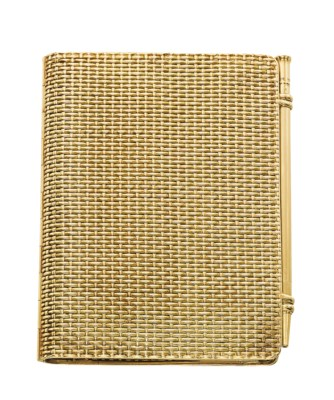 A GOLD DIARY AND PEN, BY HERMÈ