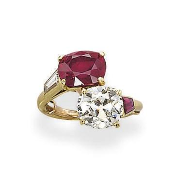 A RUBY AND DIAMOND
