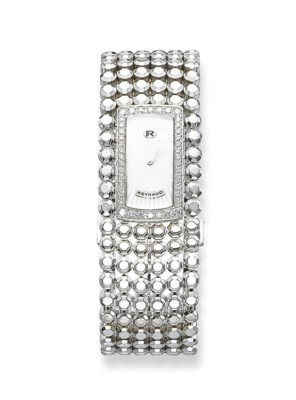 **A LADY'S WHITE GOLD AND DIAM
