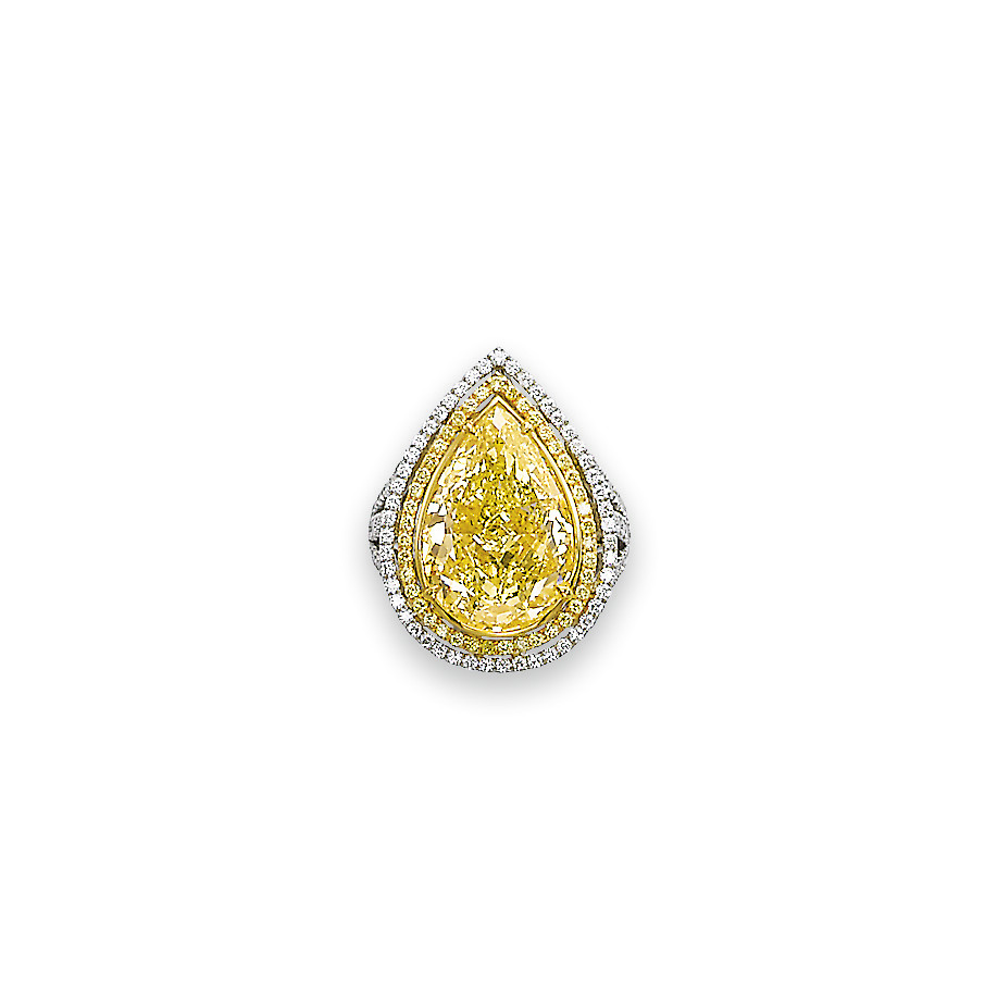 A FINE COLOURED DIAMOND AND DI