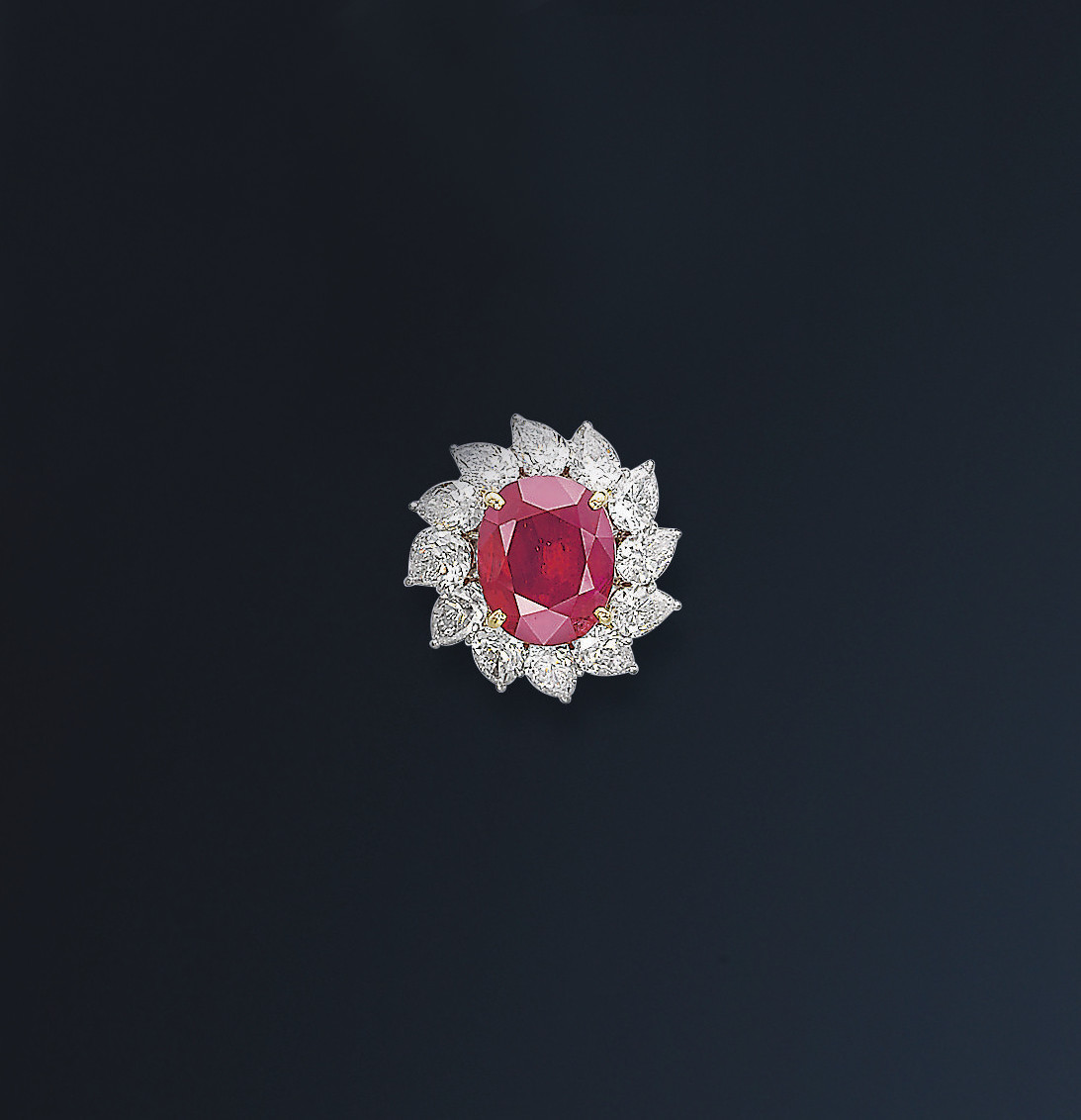 A MAGNIFICENT RUBY AND DIAMOND