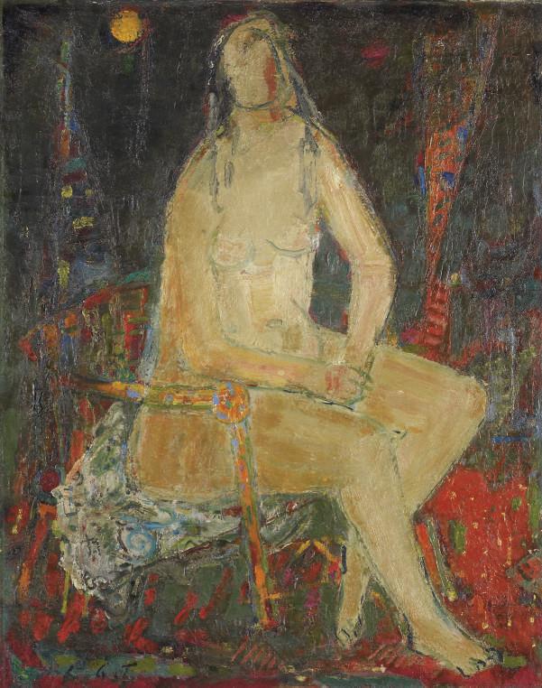 Sitzender Akt, um 1962