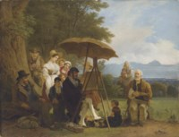 L'atelier en plein air, 1845