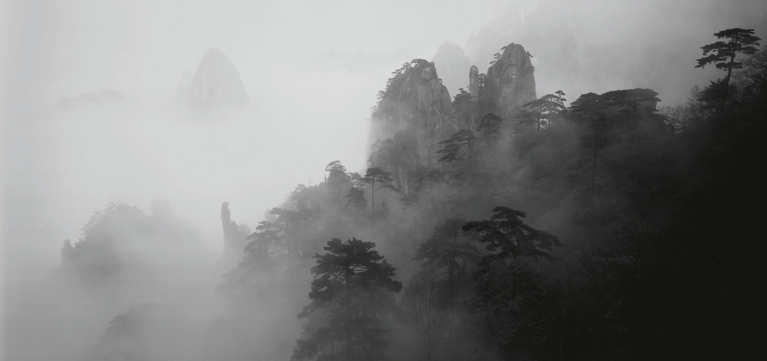 North sea in mist, Huangshan, China, 2007