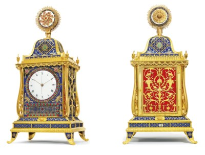 A FINE ENGLISH ORMOLU AND GUIL