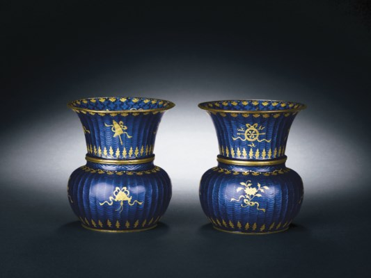 A PAIR OF BASSE-TAILLE CANTON