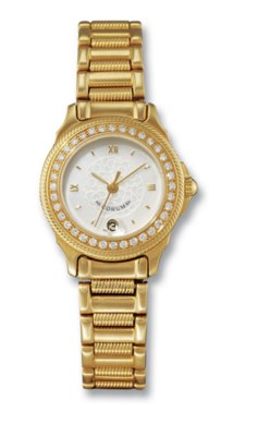 CORUM  LADY'S 18K GOLD AND DIA