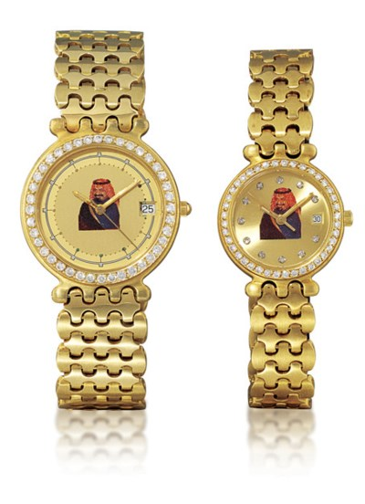 FRED  A PAIR OF 18K GOLD AND D