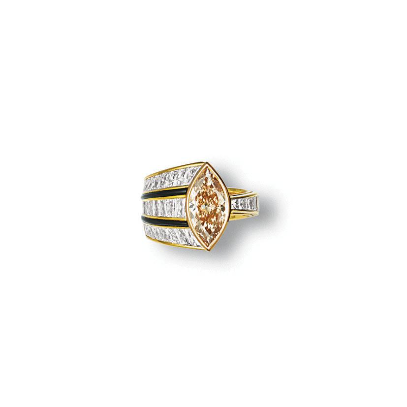A COLOURED DIAMOND, DIAMOND AN