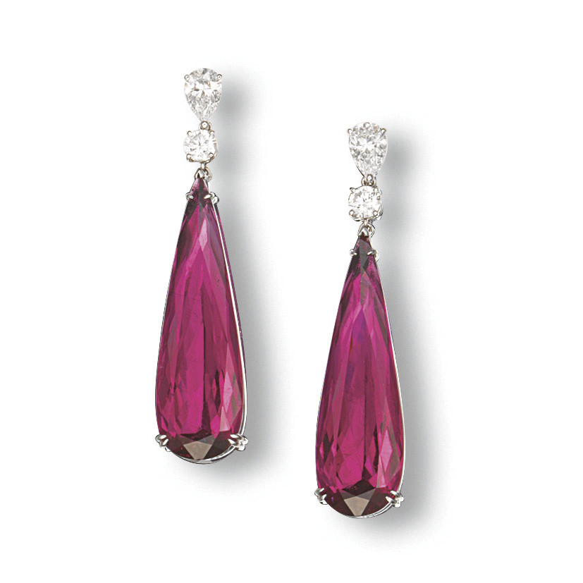 A PAIR OF RUBELLITE TOURMALINE