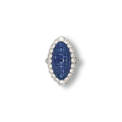 A 'MYSTERY SET' SAPPHIRE AND D
