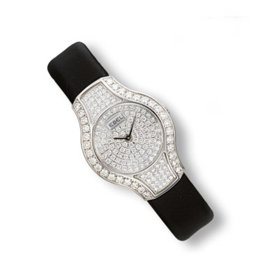 A LADY'S DIAMOND WRISTWATCH, B