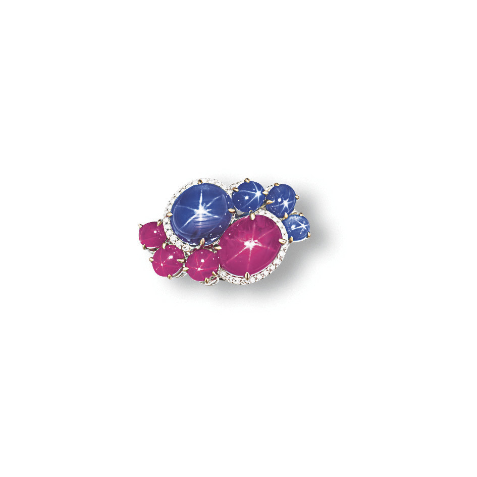 A STAR SAPPHIRE, STAR RUBY AND