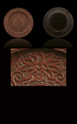 AN EXQUISITELY CARVED POLYCHRO