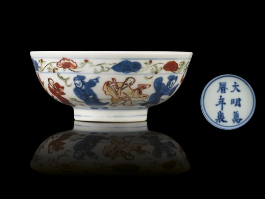 A LATE MING SMALL WUCAI BOWL