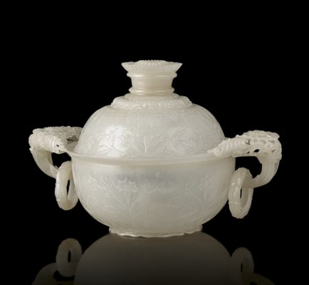 A FINELY CARVED MUGHAL-STYLE W