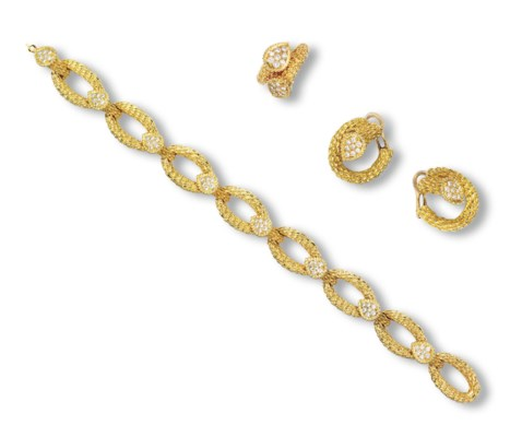 A SET OF 'SERPENT' DIAMOND AND