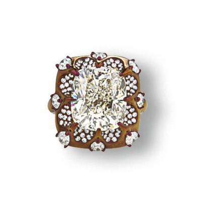 A DIAMOND AND TITANIUM RING, B