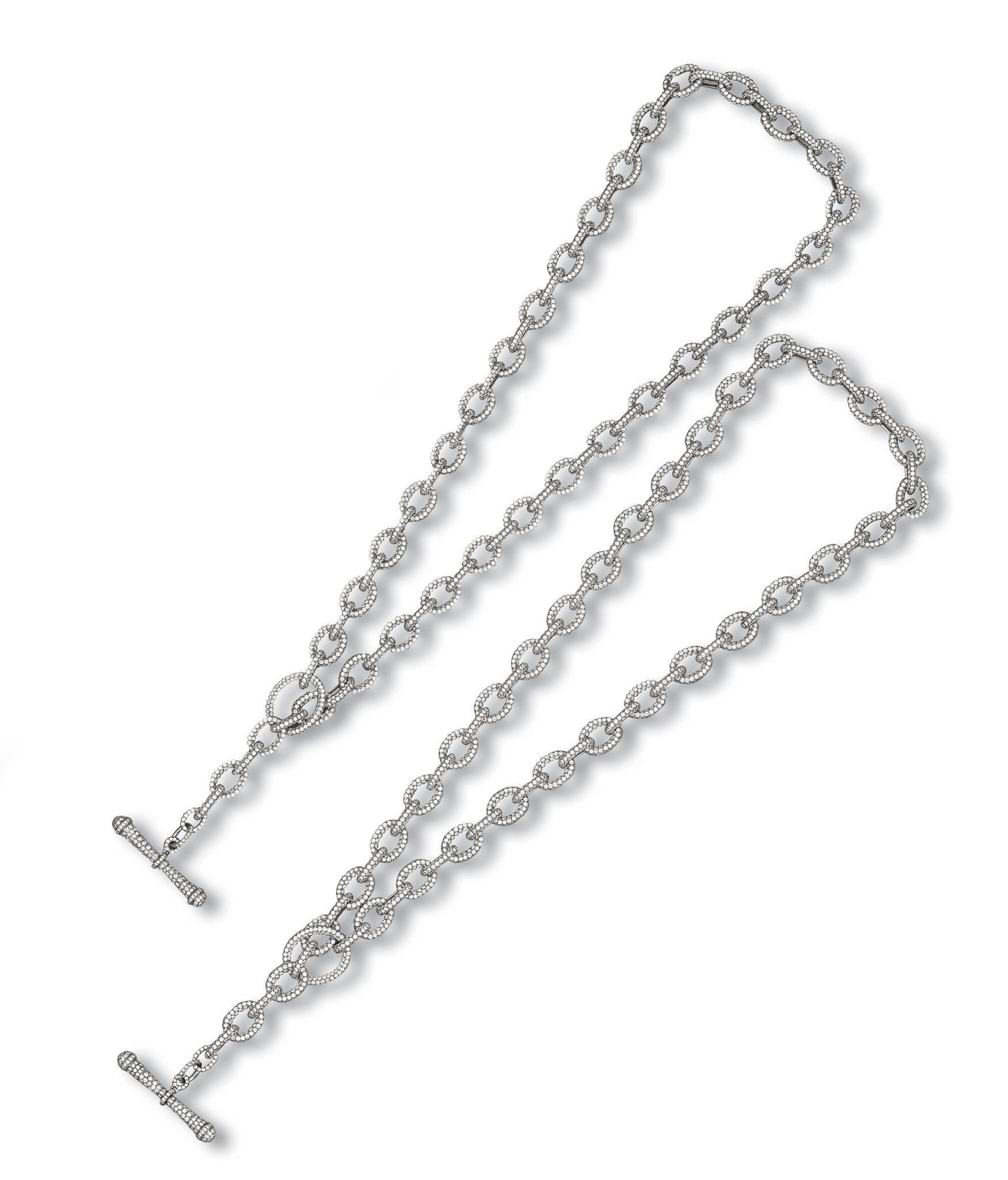 A SET OF DIAMOND NECKLACE, BY