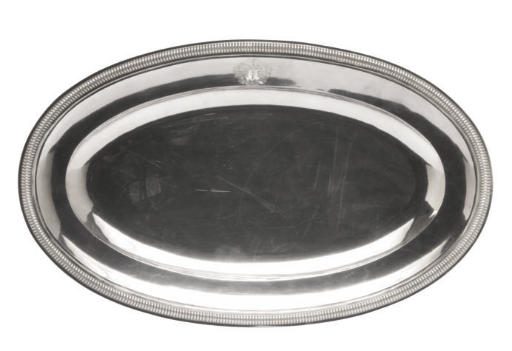 A FRENCH SILVER MEAT PLATTER,