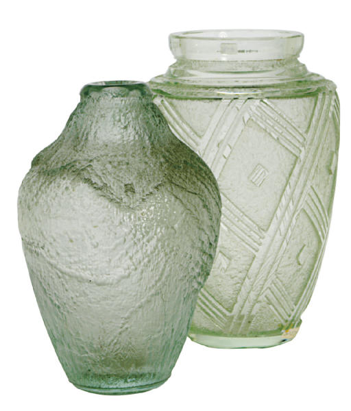 TWO FRENCH ACID-ETCHED GLASS V