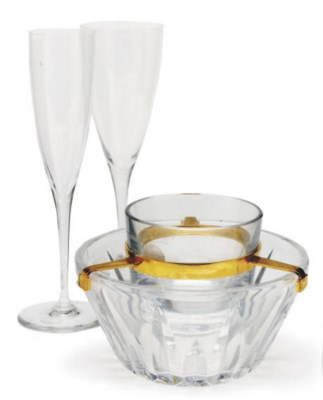 A SET OF FRENCH STEMWARE AND G